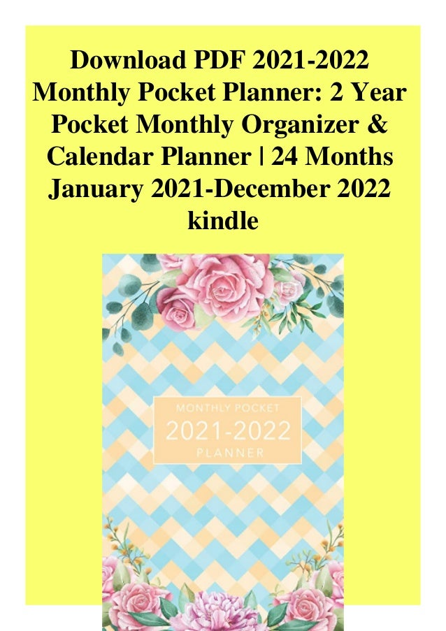 2022 Pocket Calendar.Download Pdf 2021 2022 Monthly Pocket Planner 2 Year Pocket Monthly O