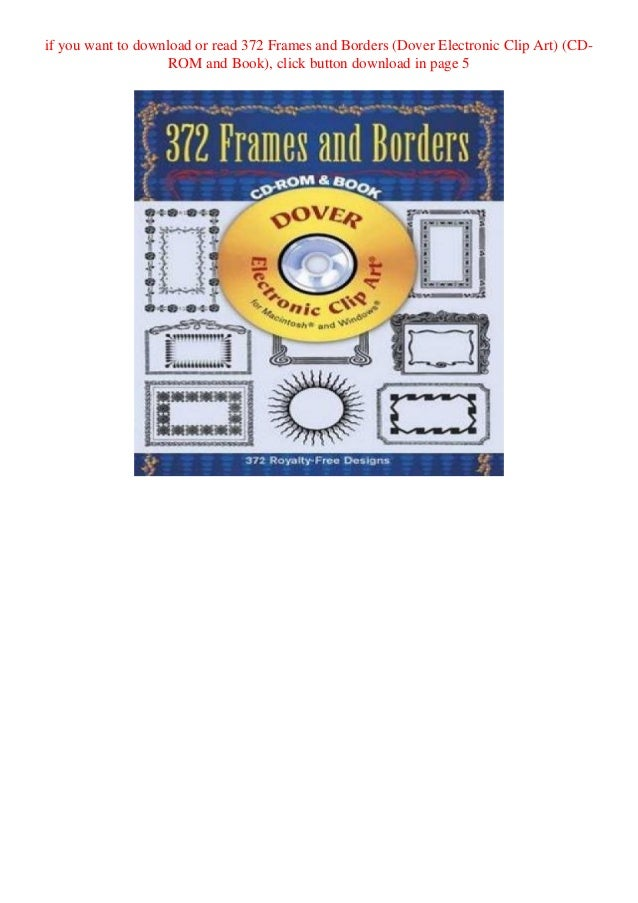 Download Pdf 372 Frames And Borders Dover Electronic Clip Art Cd R