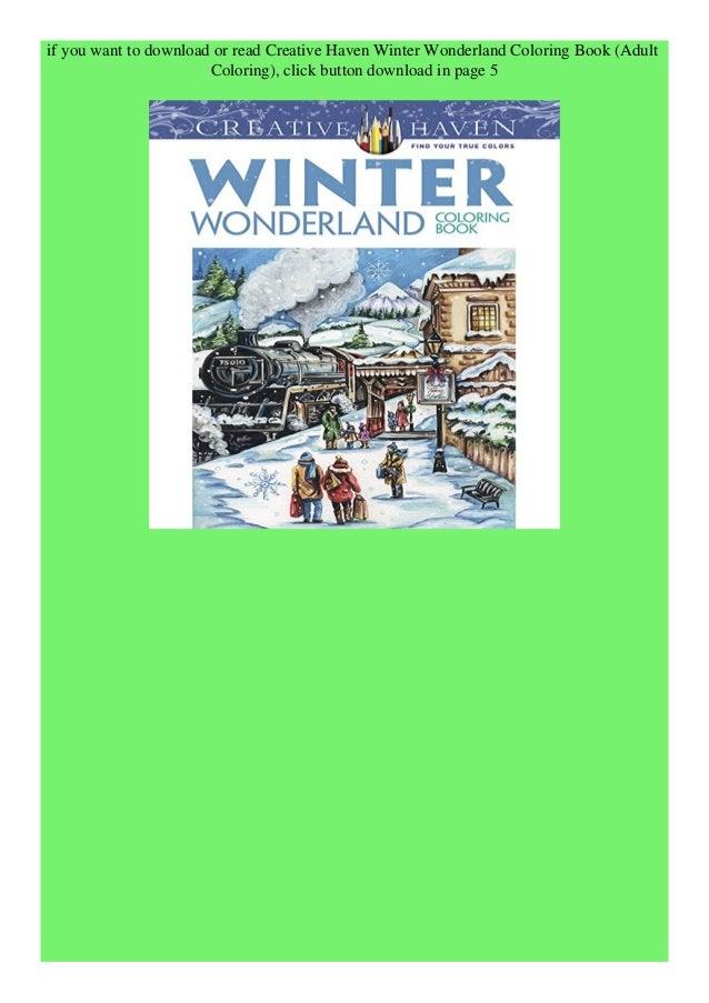 Download Pdf Creative Haven Winter Wonderland Coloring Book Adult Co