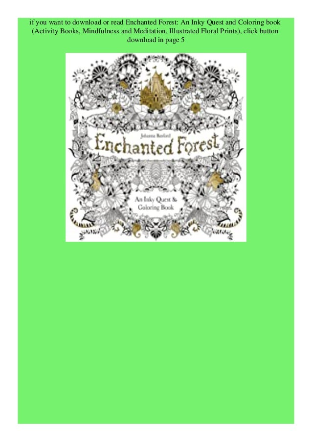 Download Pdf Enchanted Forest An Inky Quest And Coloring Book Activi
