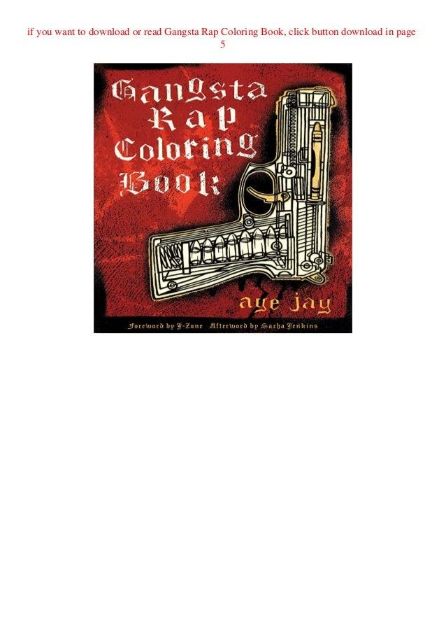 - Download-Pdf Gangsta Rap Coloring Book Unlimited