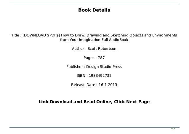 Get How To Draw Scott Robertson Pdf Download  Pics