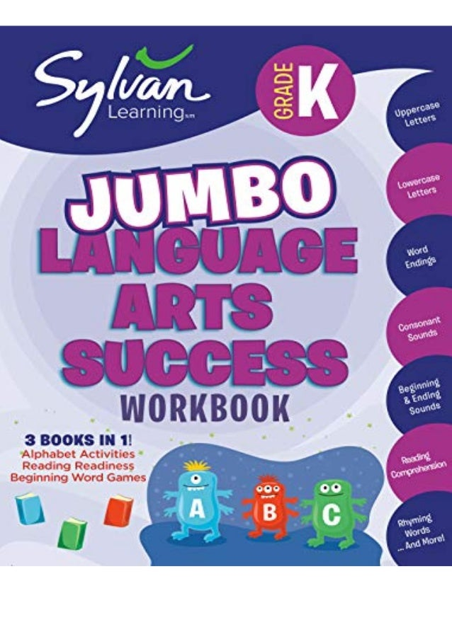 Download (PDF) Kindergarten Jumbo Language Arts Success Workbook: Activities, Exercises, and Tips to Help Catch Up, Keep U...