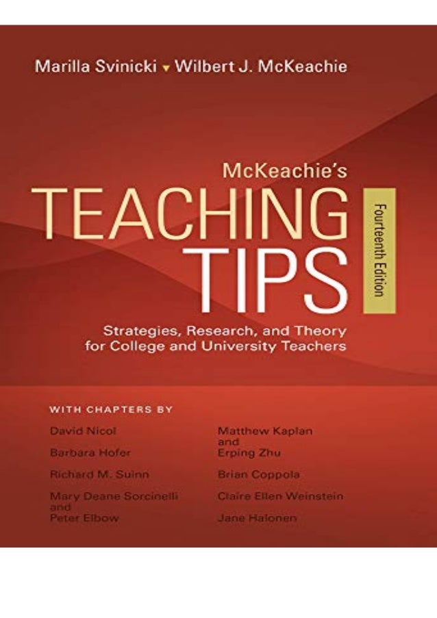 Download (PDF) McKeachie's Teaching Tips free acces