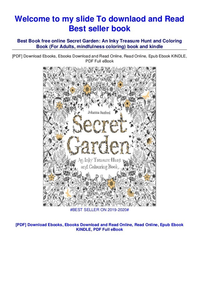 Download Pdf] Secret Garden: An Inky Treasure Hunt And Coloring Book…