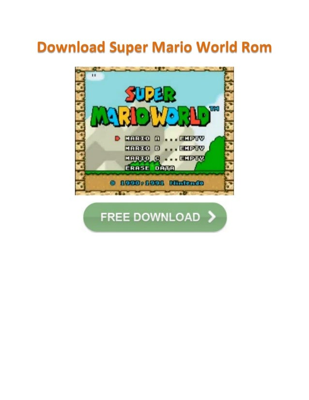how to download super mario world