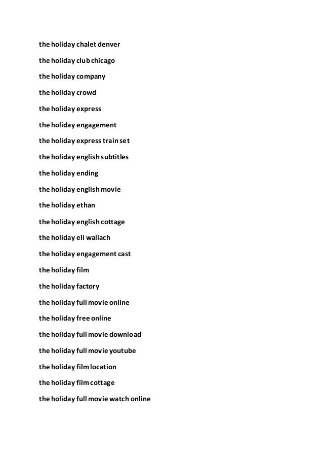 Download Watch Movies The Holiday2006 Online Streaming 1080p Full Mov
