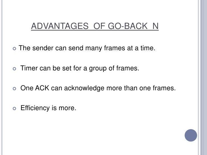 GO BACK N PROTOCOL Slide 3