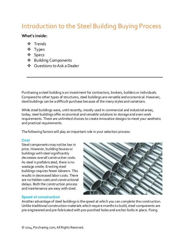 Steel Buildings Purchasing Guide - Purchasing com