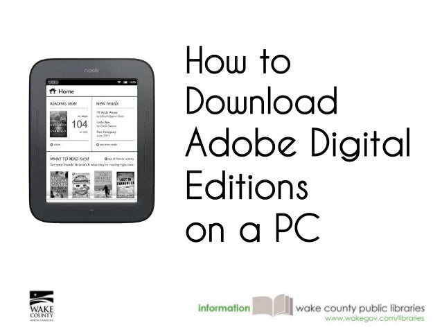 How to  Download  Adobe Digital  Editions  on a PC