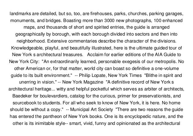 AIA Guide To New York City PDF - Book Library