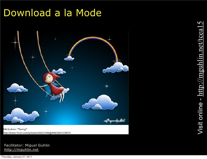 Download a la Mode                               Visit online - http://mguhlin.net/tcea15  Facilitator: Miguel Guhlin  htt...