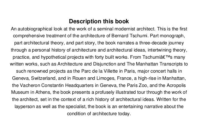 architecture and disjunction pdf free