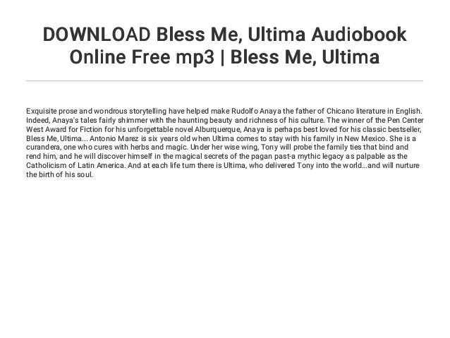 bless me ultima book online