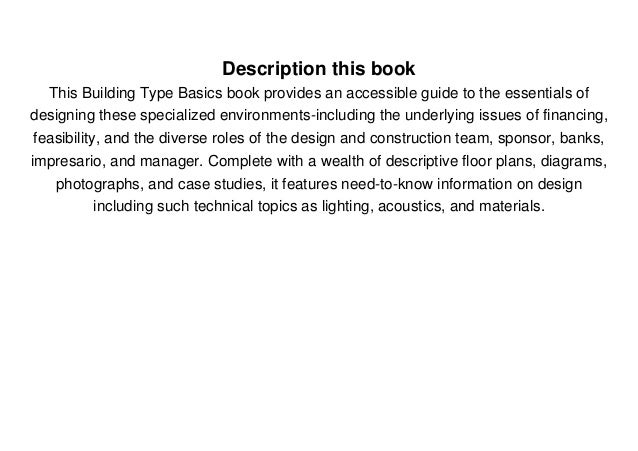 Download Building Type Basics for Performing Arts Facilities