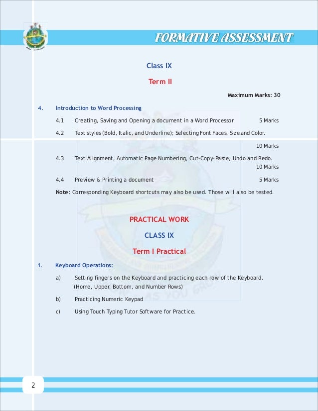 Download) cbse text books formative assessment - manual for teachers…