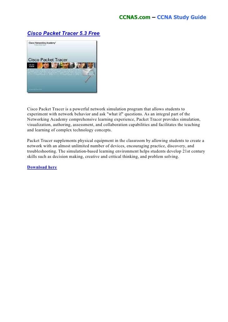 cisco packet tracer 5.3.2 gratuit