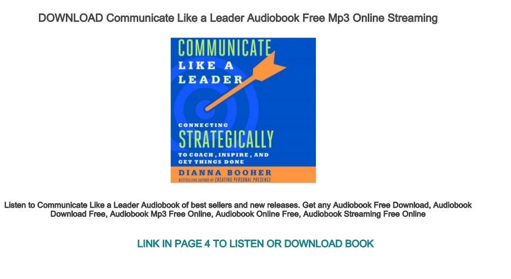 Communicate Like A Leader PDF Free Download