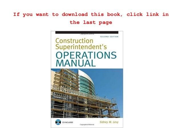 download construction superintendent operations manual pdf full eboo building operations manual template building operations manual template