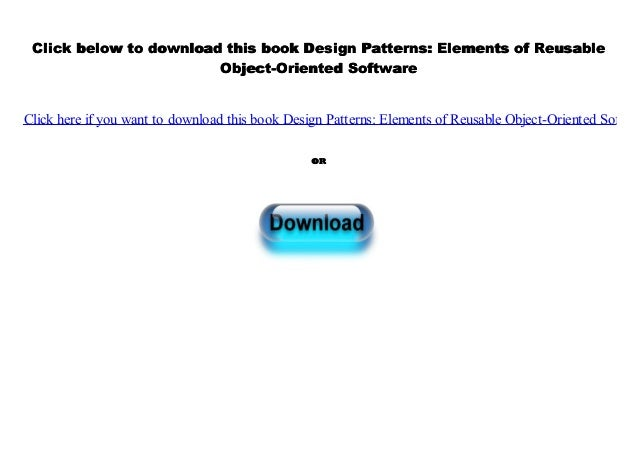 Pdf Design Patterns Elements Of Reusable Object Oriented Software