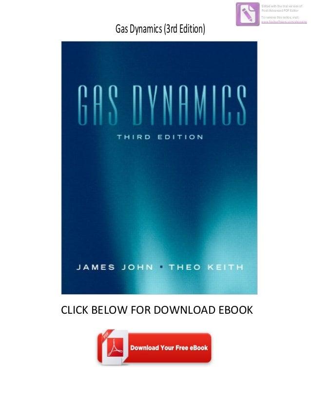 download ebook gas dynamics 3rd edition rh slideshare net Keith John Gas Dynamics Keith John Gas Dynamics