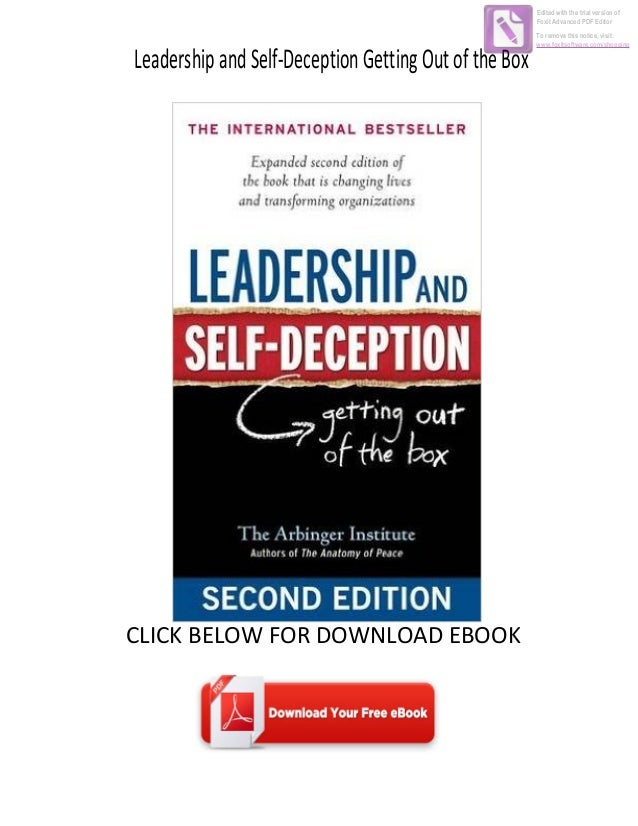 Download ebook leadership and self deception getting out of the box leadershipandself deceptiongettingoutofthebox click below for download ebook edited with the trial version of foxit advanc fandeluxe Ebook collections