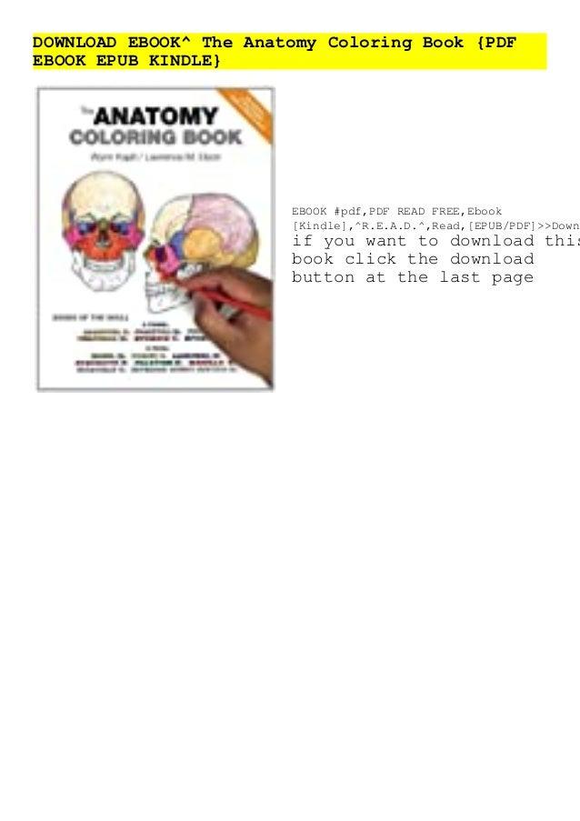 DOWNLOAD EBOOK^ The Anatomy Coloring Book {PDF EBOOK EPUB KINDLE}