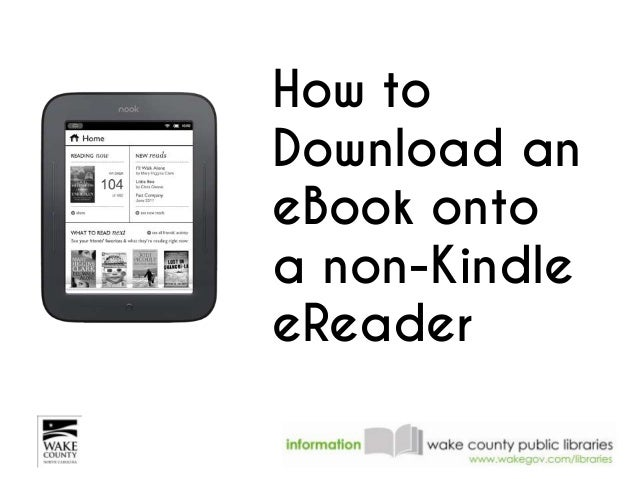 How to Download an eBook onto a non-Kindle eReader