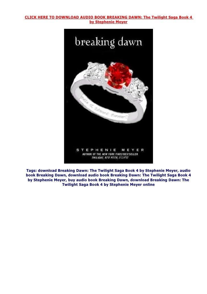 Download audio book Breaking Dawn by stephenie meyer