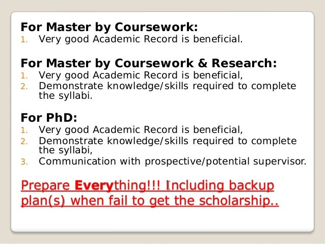 Beza master coursework dan research