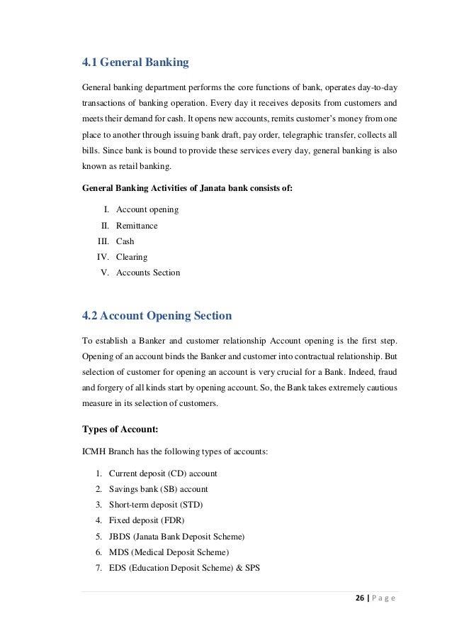 General Banking and Financial Performance Analysis of Janata