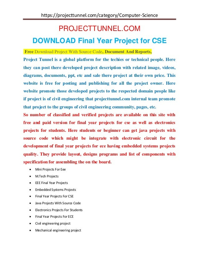 Final Year Project for CSE