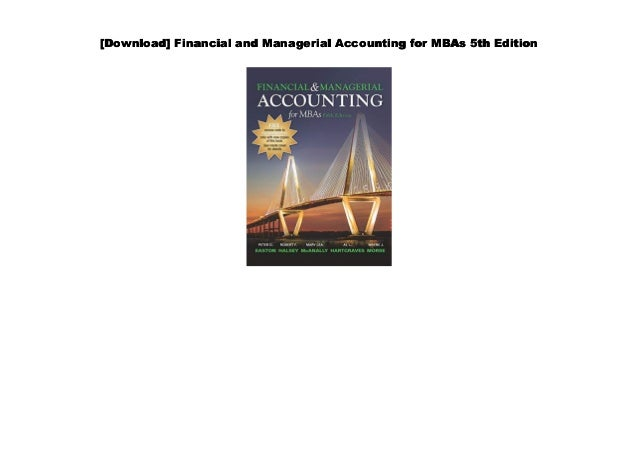 Financial Accounting For Mbas 5th Edition Pdf