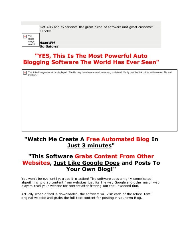 The most powerful auto blogging software webmagnates org