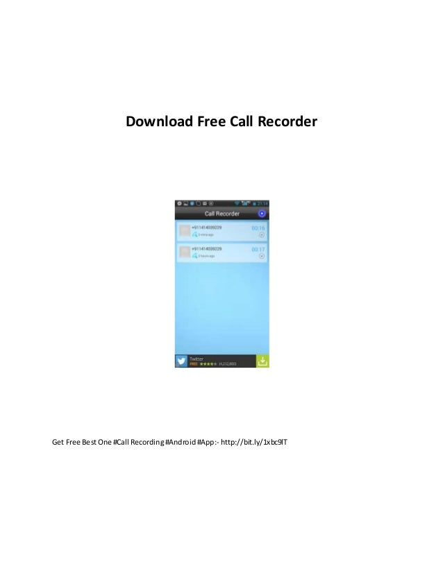 Download free call recorder
