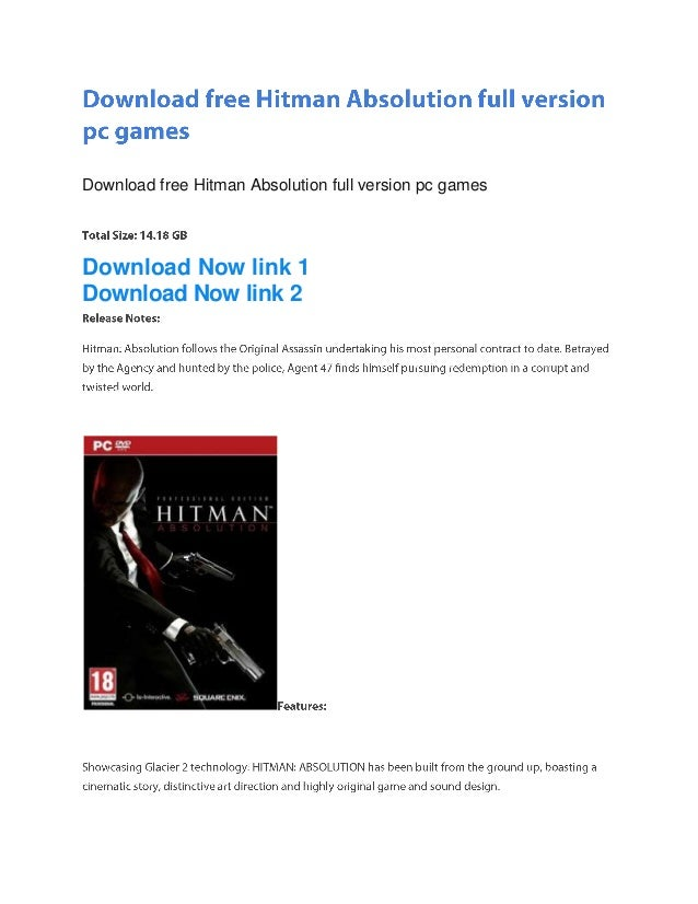 Download free Hitman Absolution full version pc gamesDownload Now link 1Download Now link 2