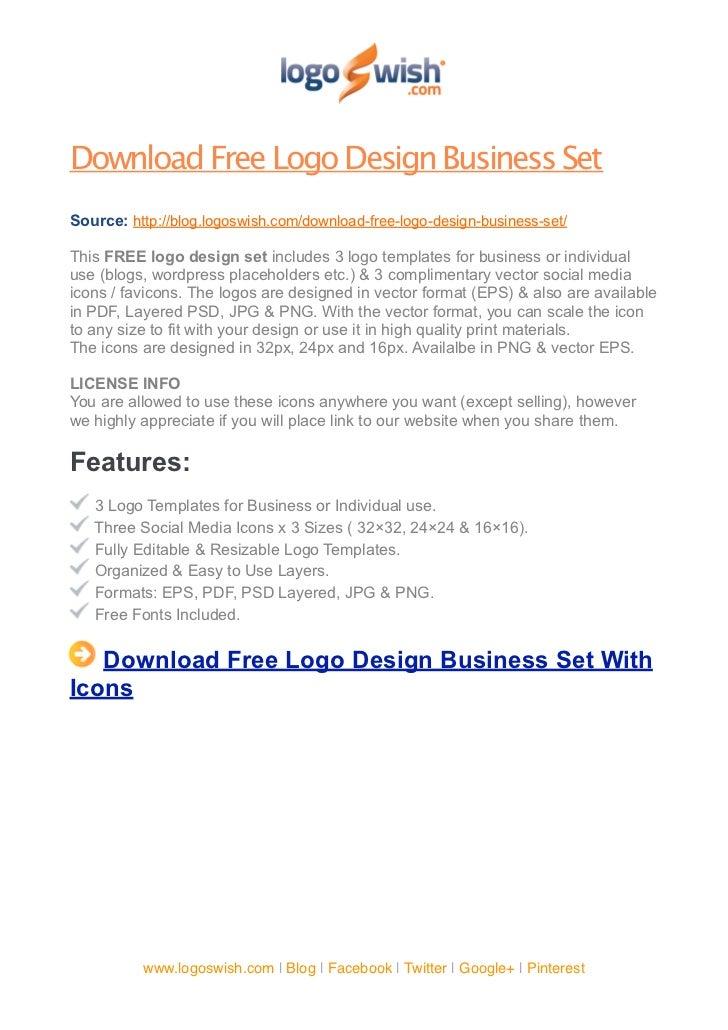 Download free logo design business set