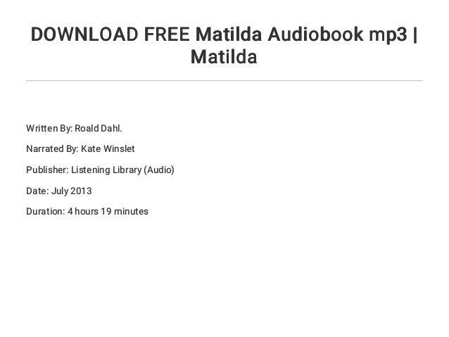 Download free matilda audiobook mp3 | matilda.