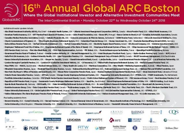 Global ARC Boston 2018 - FULL AGENDA (2nd Sept)