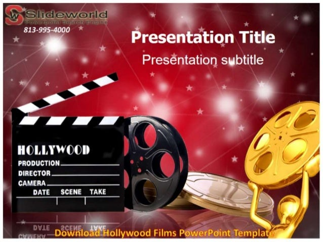download hollywood films powerpoint template