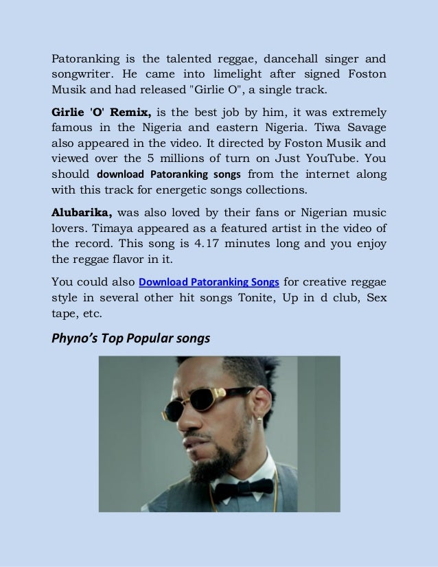 Download ice prince, patoranking and phyno – most popular songs