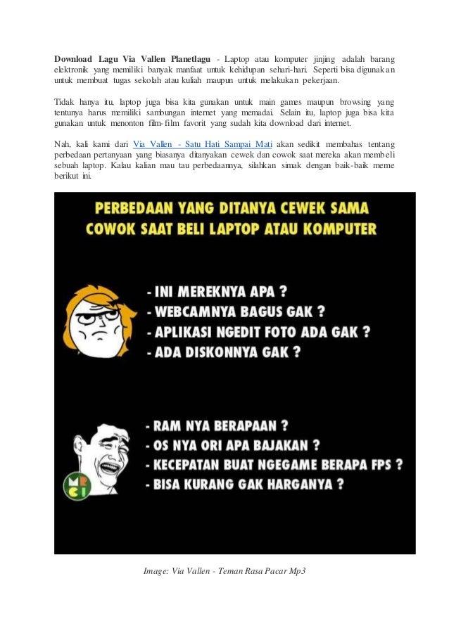 Download Lagu Via Vallen Planetlagu - Laptop atau komputer jinjing adalah barang elektronik yang memiliki banyak manfaat u...