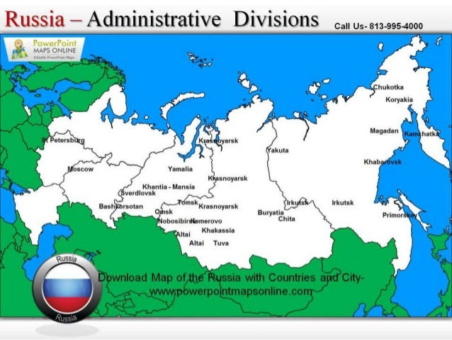 Download Editable Map Of The Russia - Russia administrative map
