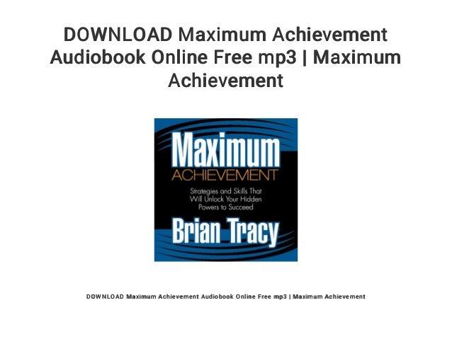 Download maximum achievement audiobook online mp3 free   maximum achi….