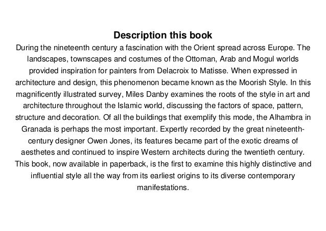 Description this book During the nineteenth century a fascination with the Orient spread across Europe. The landscapes, to...