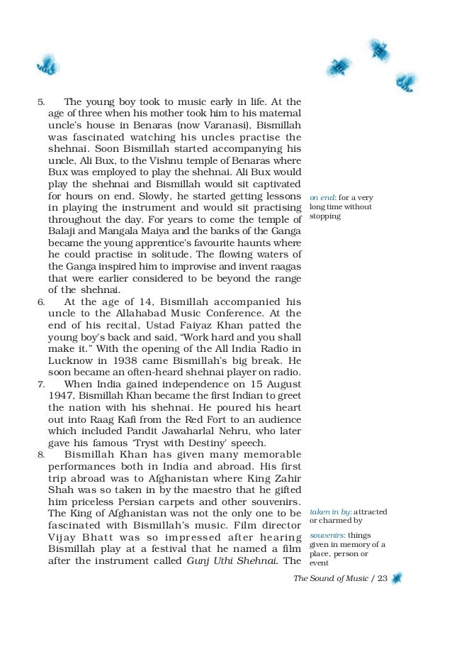 Download ncert book class 9 english beehive chapters 23 the sound of fandeluxe