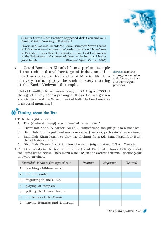 Download ncert book class 9 english beehive chapters 25 the sound of fandeluxe Image collections