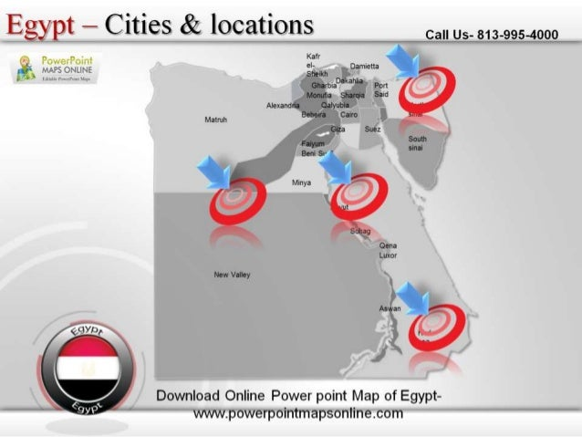 Online Download Online Powerpoint Map Of Egypt - Map of egypt online