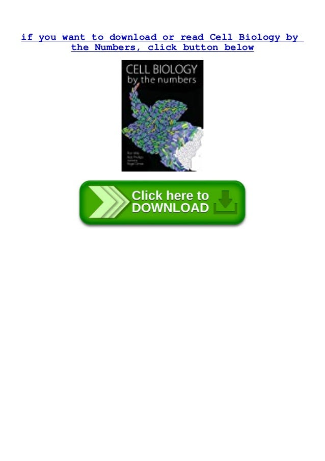 if you want to download or read Cell Biology by the Numbers, click button below