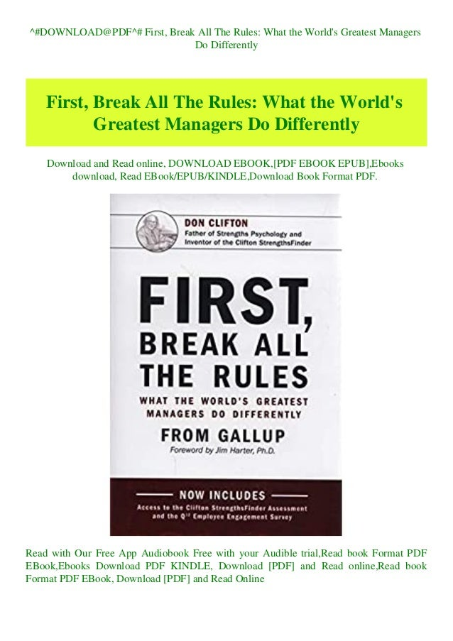 First, Break All The Rules PDF Free Download